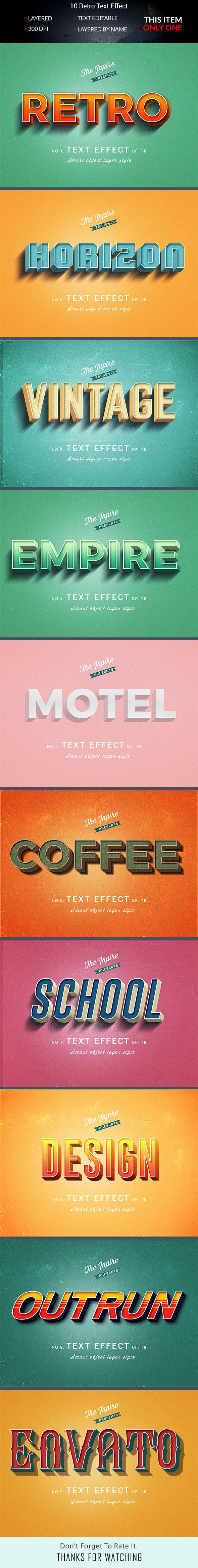 3D Text Effcet - Text Effects Styles