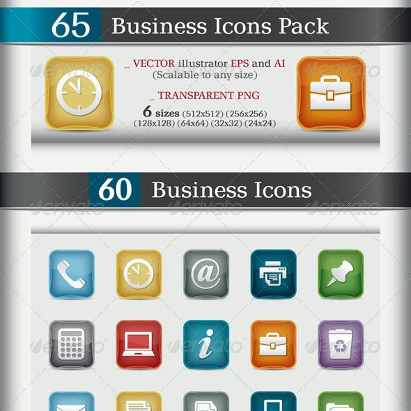 65 Business Icons Pack