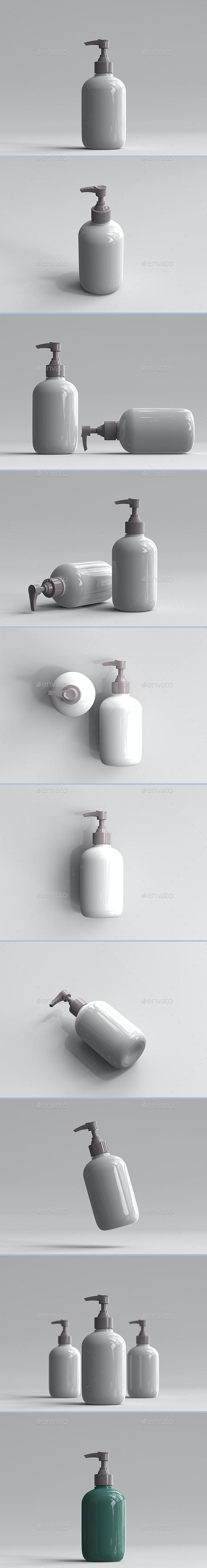 3D Rendered Pump Bottles - Objects 3D Renders