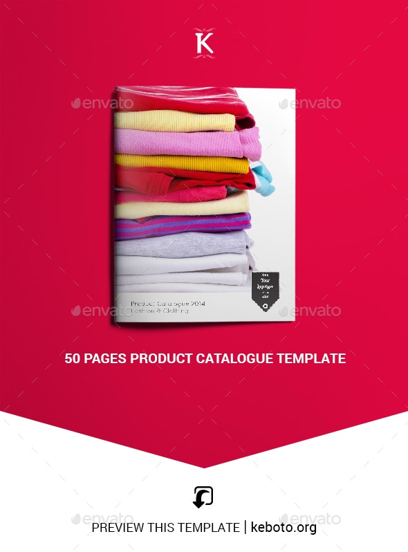 50 Pages Product Catalogue Template - Commerce Flyers