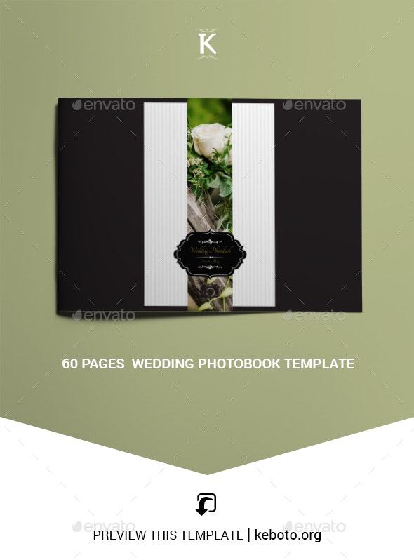 60 Pages  Wedding Photobook Template - Photo Albums Print Templates