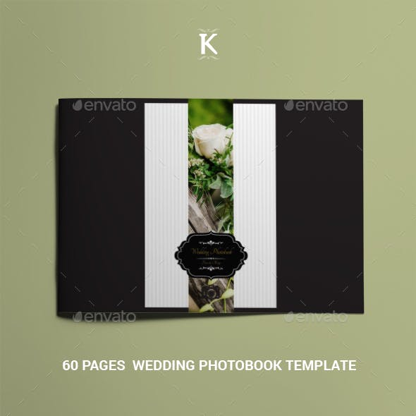 60 Pages  Wedding Photobook Template
