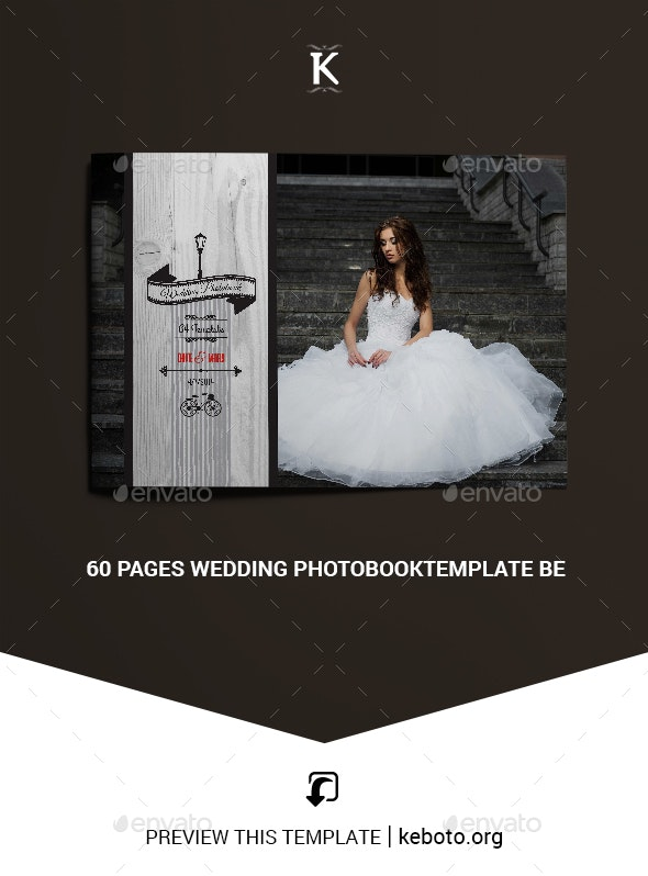 60 Pages Wedding PhotobookTemplate Be - Photo Albums Print Templates