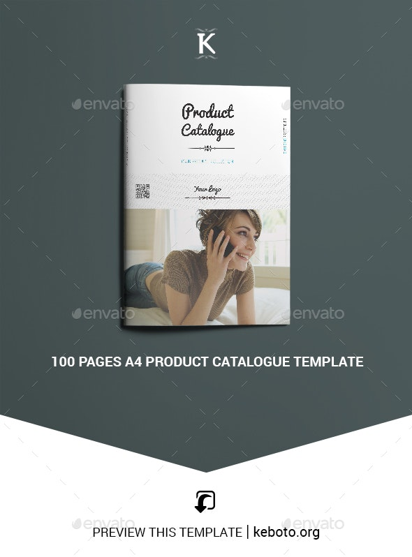 100 Pages A4 Product Catalogue Template - Catalogs Brochures