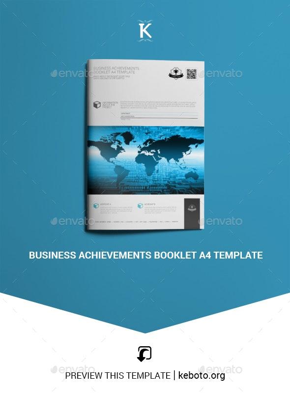 Business Achievements Booklet A4 Template - Miscellaneous Print Templates