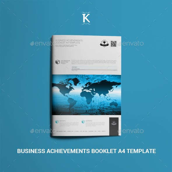 Business Achievements Booklet A4 Template