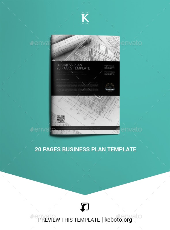 20 Pages Business Plan Template - Miscellaneous Print Templates