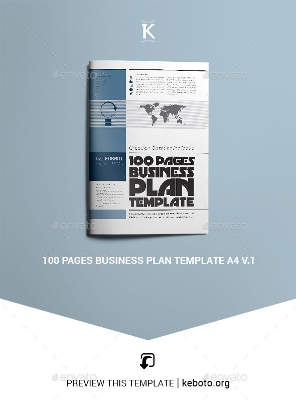 100 Pages Business Plan Template A4 v.1 - Miscellaneous Print Templates