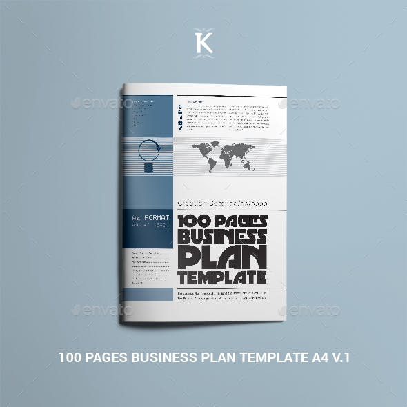 100 Pages Business Plan Template A4 v.1