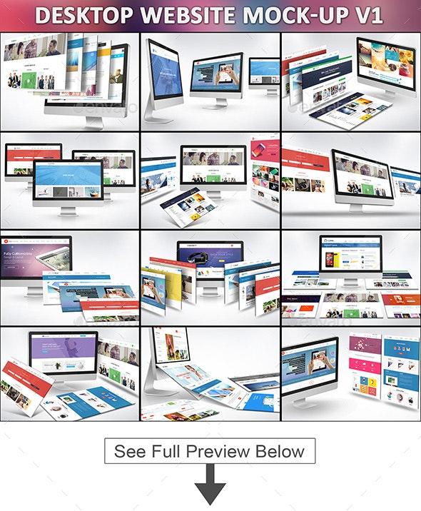 Desktop Website Mock-Up V1 - Website Displays