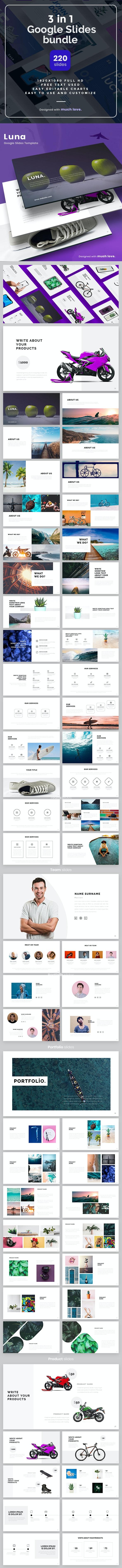 3 in1 Google Slide Bundle - Google Slides Presentation Templates