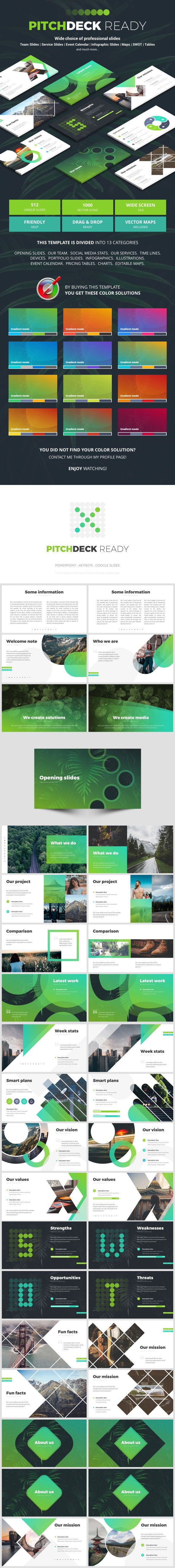 Pitch Deck Ready - Business Keynote Templates