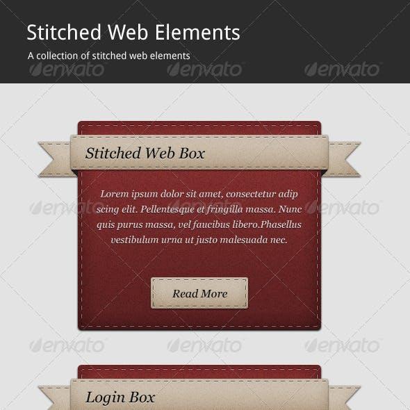 Stitched Web Elements