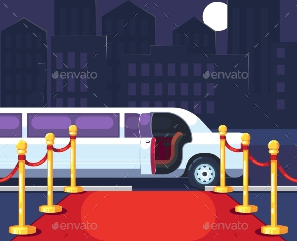 Empty Red Event Carpet with Rope Barrier - Miscellaneous Seasons/Holidays