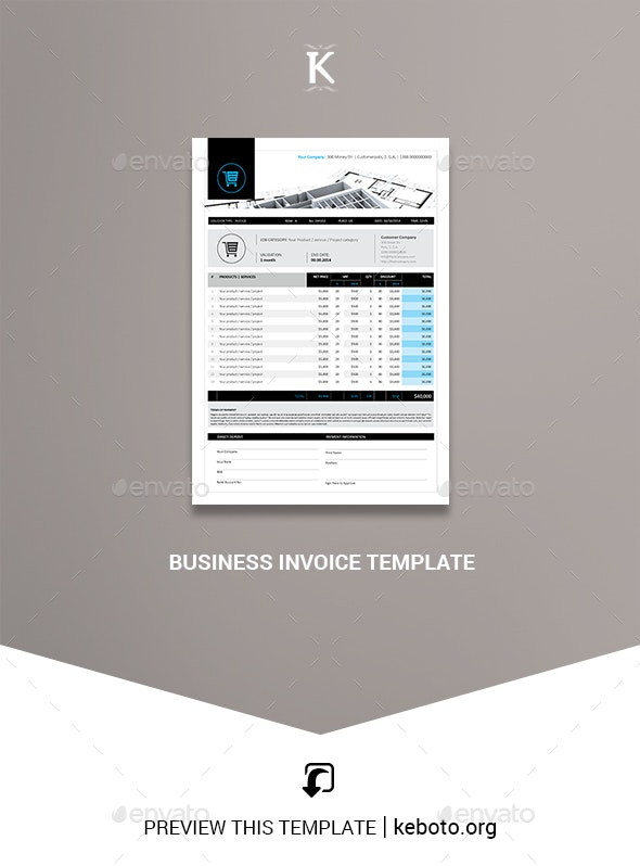 Business Invoice Templates - Proposals & Invoices Stationery