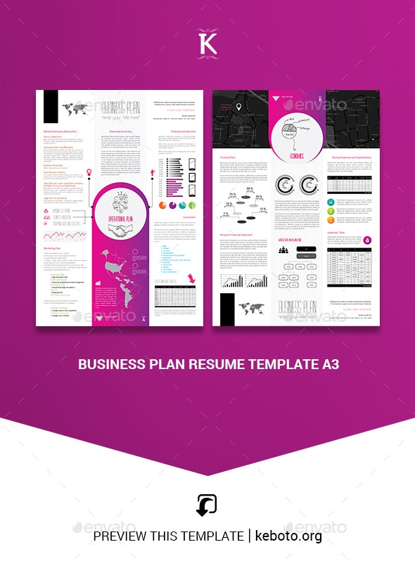 Business Plan Resume Template A3 - Miscellaneous Print Templates