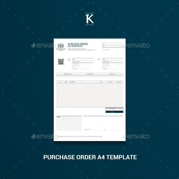 Purchase Order A4 Template