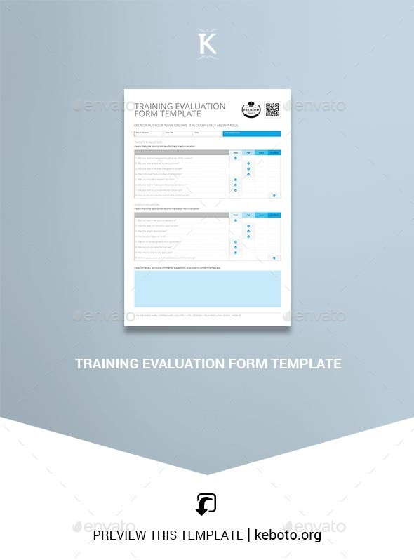 Training Evaluation Form Template - Corporate Flyers