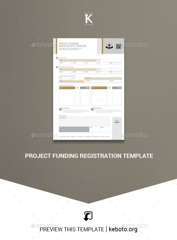 Project Funding Registration Template - Miscellaneous Print Templates