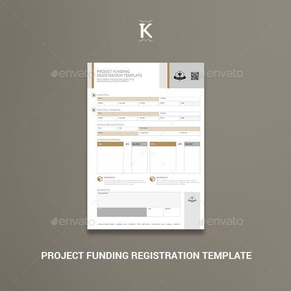 Project Funding Registration Template