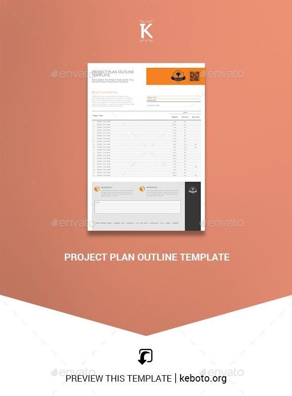 Project Plan Outline Template - Miscellaneous Print Templates