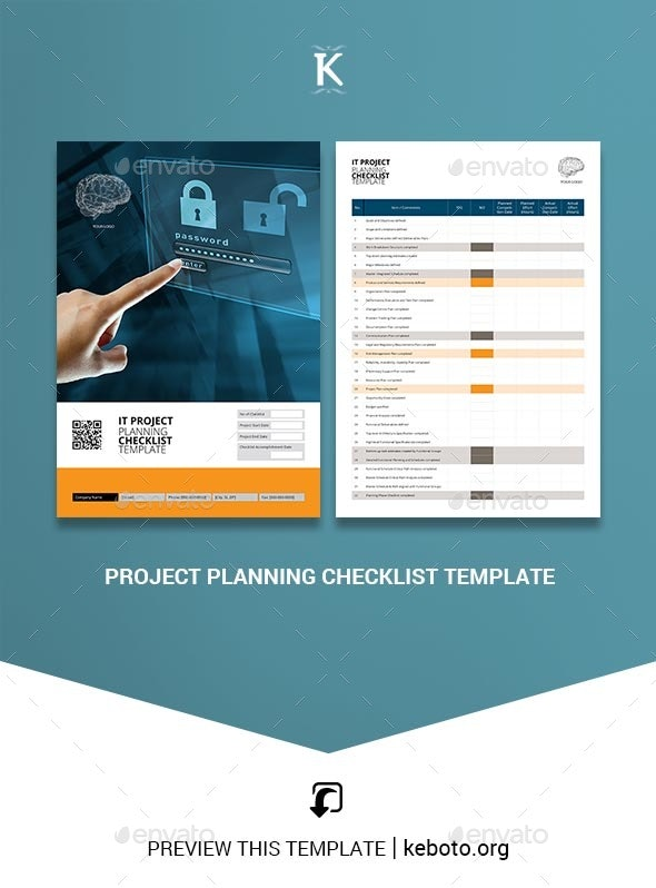 Project Planning Checklist Template - Miscellaneous Print Templates