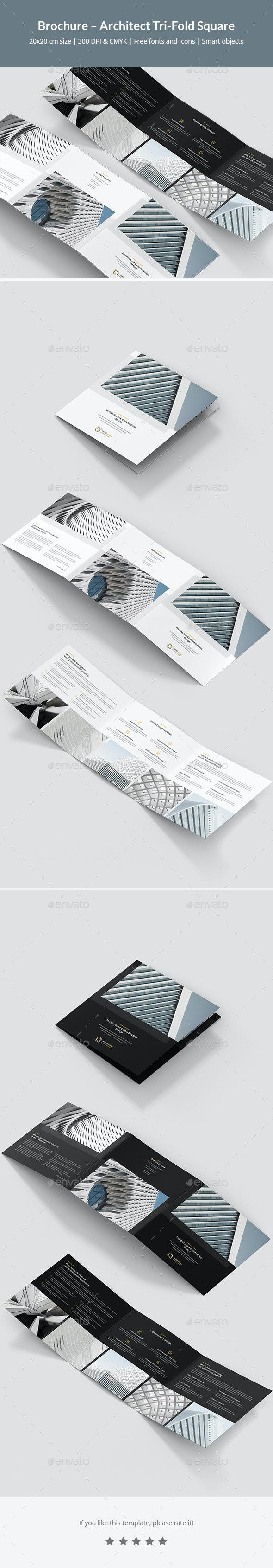 Brochure – Architect Tri-Fold Square - Corporate Brochures
