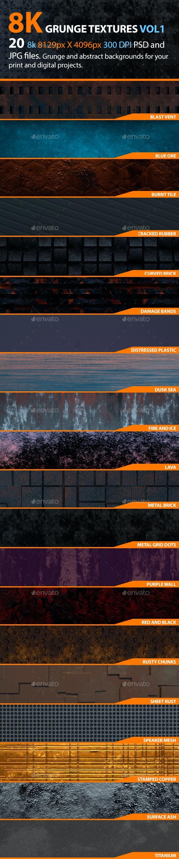 8K Grunge Textures Volume 1 - Textures