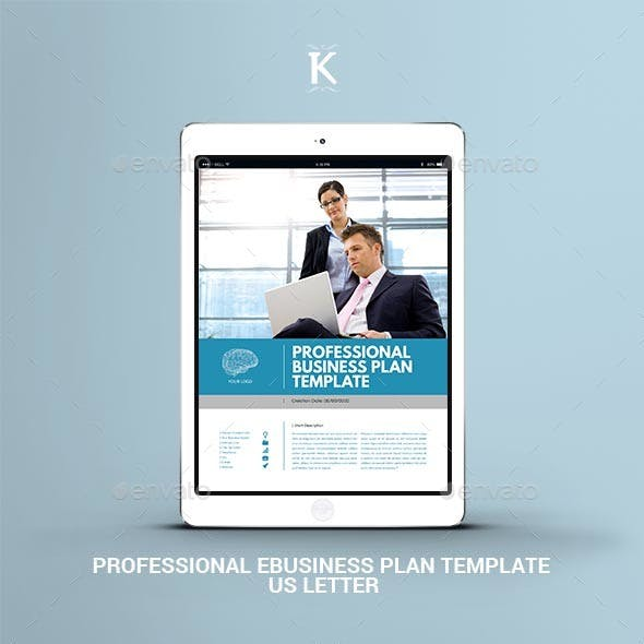 Professional eBusiness Plan Template - US Letter