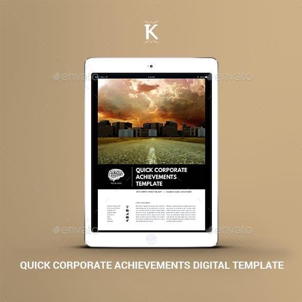 Quick Corporate Achievements Digital Template