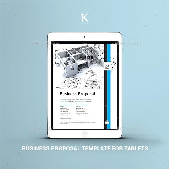 Business Proposal Template for Tablets