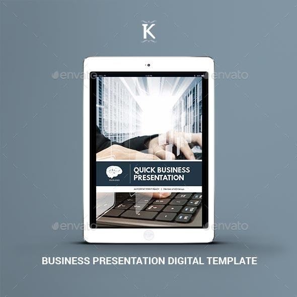 Business Presentation Digital Template