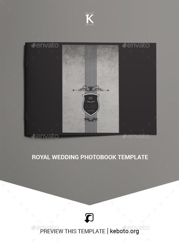 Royal Wedding Photobook Template - Photo Albums Print Templates