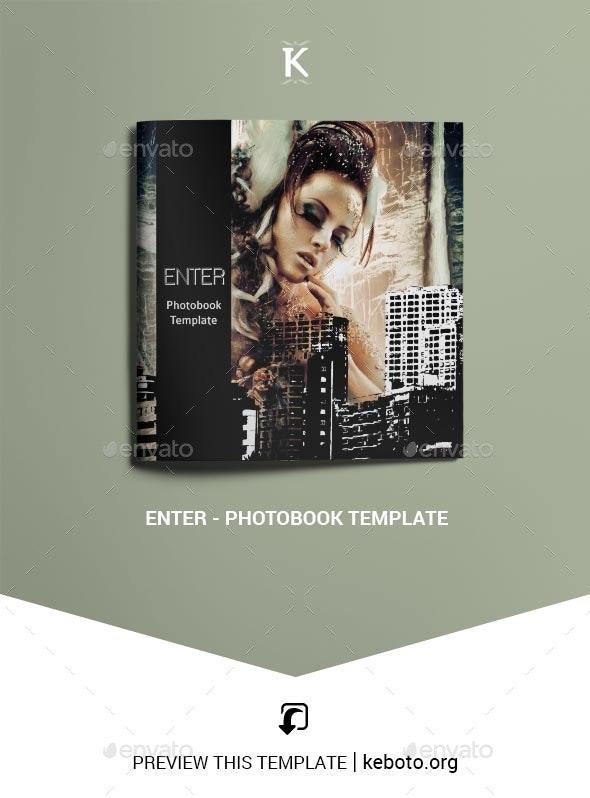 Enter - Photobook Template - Photo Albums Print Templates