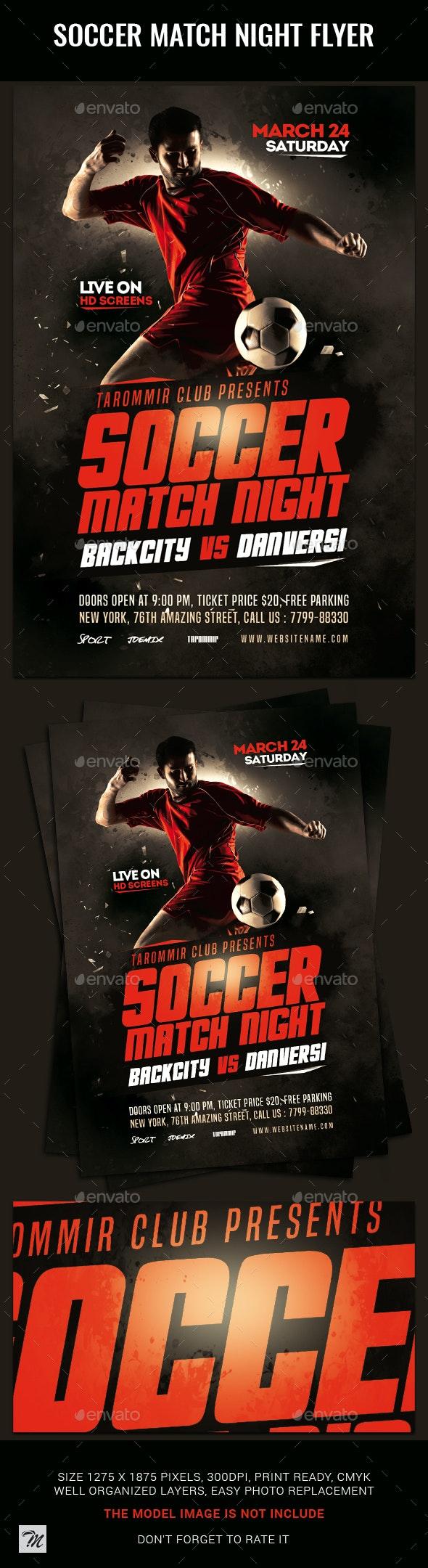 Soccer Match Night Flyer - Sports Events