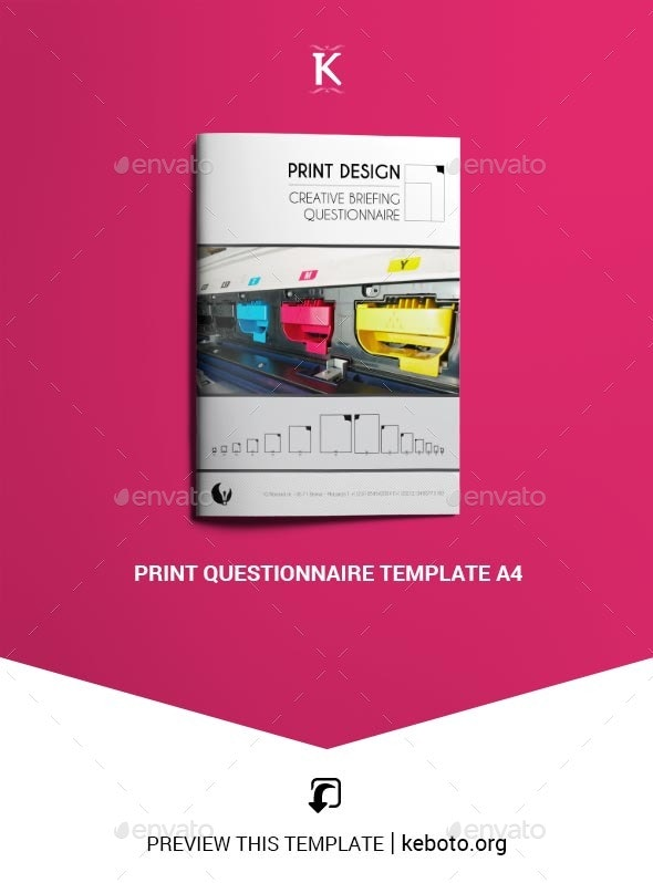 Print Questionnaire Template A4 - Miscellaneous Print Templates