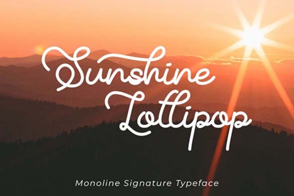 Sunshine Lollipop - Hand-writing Script