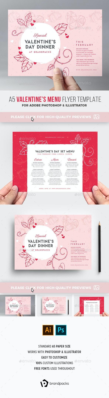 Valentine's Day Menu Flyer - Holidays Events