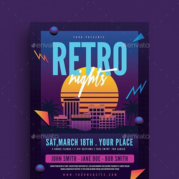 Retro Night 80s Event Flyer