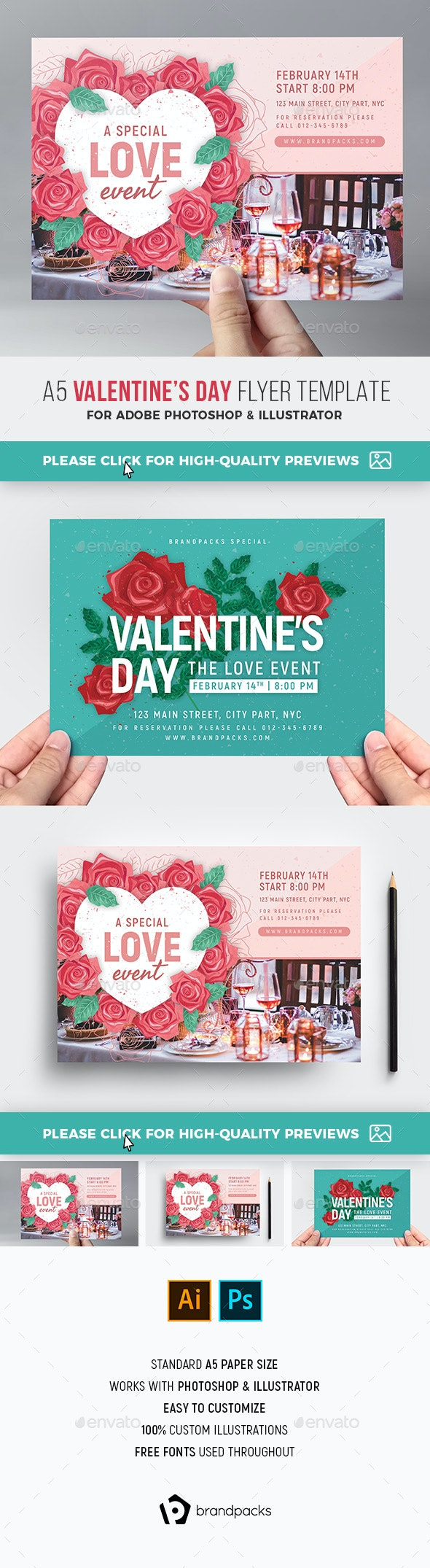 Valentine's Day Flyer - Holidays Events