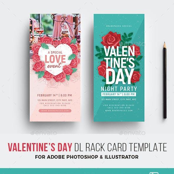 Valentines Day DL Rack Card