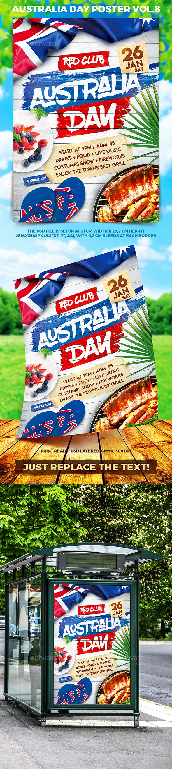 Australia Day Party Poster vol.8 - Holidays Events