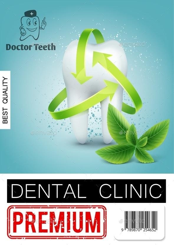Realistic Dental Clinic Advertising Poster - Health/Medicine Conceptual