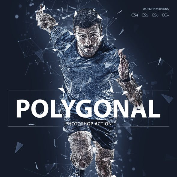 Polygonal Photoshop Action