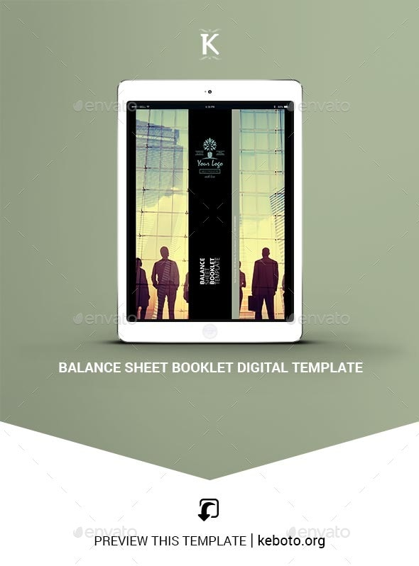 Balance Sheet Booklet Digital Template - ePublishing