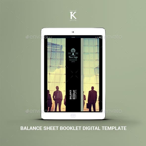 Balance Sheet Booklet Digital Template