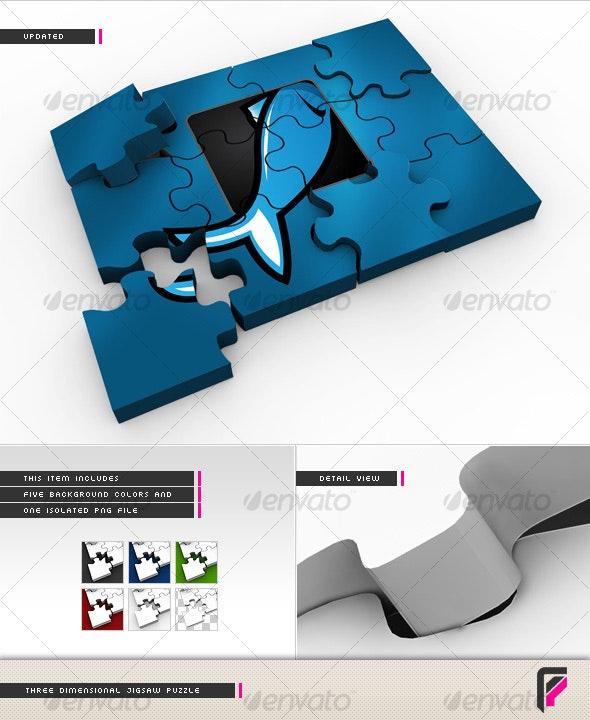 3D Jigsaw Puzzle - 3D Renders Graphics