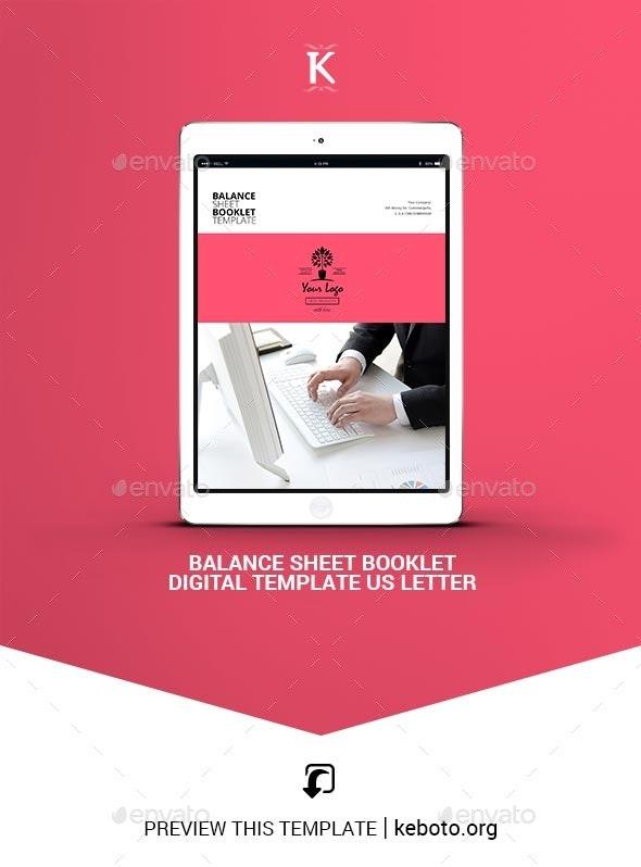 Balance Sheet Booklet Digital Template US Letter - ePublishing