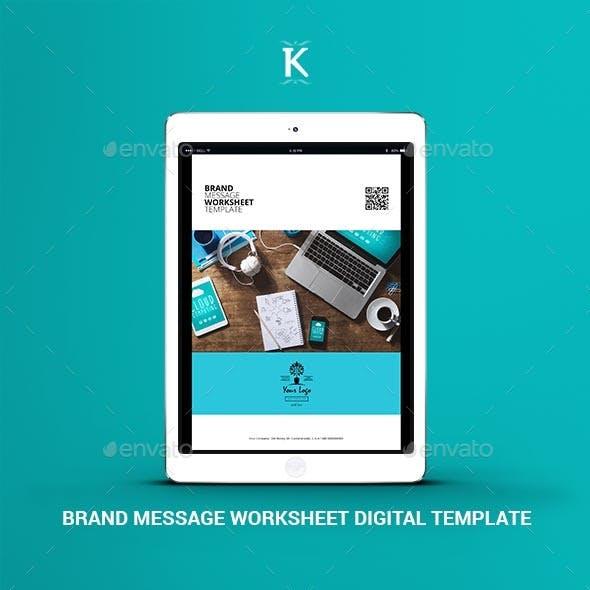Brand Message Worksheet Digital Template