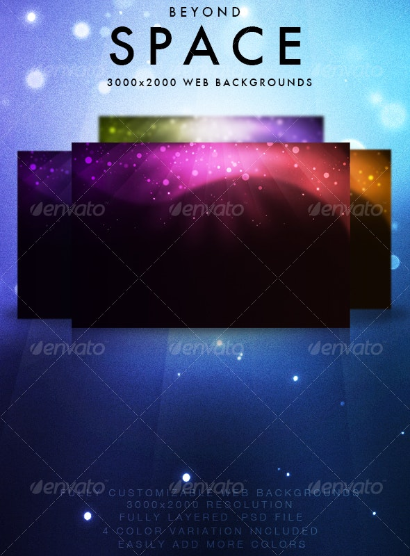 Beyond Space Backgrounds - Backgrounds Graphics